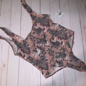 Free People NWT Floral Print Bodysuit